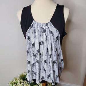 Alfani Petite Large Giraffe sleeveless blouse